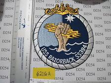 NAVY USN USS RAZORBACK SSN-394 SUBMARINE Pocket Patch ww2 Vietnam
