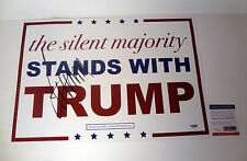 DONALD TRUMP MAKE AMERICA GREAT AGAIN SIGNED AUTOGRAPH SIGN POSTER PSA/DNA COA B