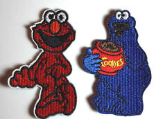 """Sesame Street 3"""" Tall Embroidered Patch Set of 2- FREE S&H (EBPA-SS-Set2)"""