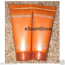 2 PCS CLINIQUE HAPPY BODY CREAM DELUXE SAMPLE TRAVEL SIZE 1 OZ COMBINED TOTAL WT