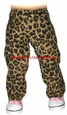 Leopard Print Jean Pants Doll Clothes Made For 18 inch American Girl Dolls
