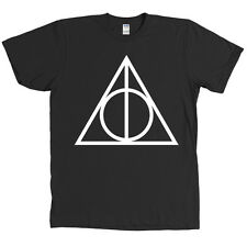 Sign of the Deathly Hallows Triangle T Shirt Harry Potter Magic Wizard Tee NEW
