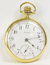 E Howard Watch Co 16 Size Open Face Pendant Wind & Set 17 Jewel Pocket Watch