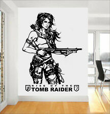 TOMB RAIDER Lara Croft Wall Art Adesivo/Adesivo ps4 XBOX Casa Camera da Letto