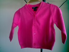 Baby Gap Infant Girl 6-12 Months Pink Cardigan Sweater NWT 100% Cotton