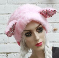 PINK CAT EAR HEAD BAND - HARAJUKU GOTHIC FUR FLUFFY KAWAII