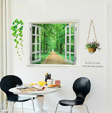 MODERN ART LARGE DIY REMOVABLE WALL STICKER LIVING ROOM GLASS FLOWER WINDOW 823