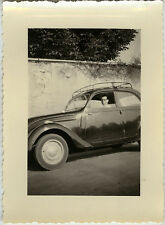 PHOTO ANCIENNE - VINTAGE SNAPSHOT - VOITURE AUTOMOBILE GALERIE HOMME - CAR