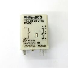 NEW Philips ECG RLY2742P (RYX-E2-Y2-V185) 12 Volt DC Coil, DPDT P.C. Mount Relay