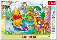 Trefl 15 Piezas Bebé Niños Infantil Winnie Pooh bosque Rompecabezas Marco Nuevo
