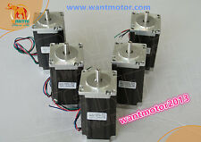 EU Free!Schrittmotor Wantai 5PCS Nema23 Stepper Motor 425oz-in 3A dual Shaft