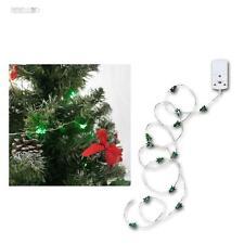 """Micro LED Batterie-Lichterkette """"String"""" 12 grüne Bäume batteriebetrieben MINI"""
