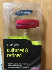New Samsung HM1900 Wireless Bluetooth Headset A2DP Music Streaming Silver NIB