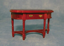 Mahogany Hall table with Opening Drawer, Doll House Miniature. 1.12 Scale