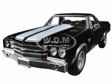 1970 CHEVROLET EL CAMINO SS BLACK 1/24 DIECAST MODEL CAR BY NEW RAY 71885