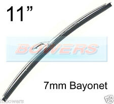 "11"" INCH STAINLESS STEEL NOT CHROME CLASSIC CAR WIPER BLADE 7mm BAYONET FITTING"