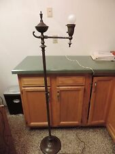 Antique Bradley Hubbard Torchiere  Bridge Style Floor Lamp  Brass Bronze finish