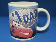 #1 Dad Coffee Mug Cup Disney Pixar Cars Lightening McQueen New Red Racing Racer