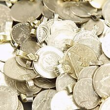 100 real COINS Tribal Belly Dance Kuchi MIXED ((polished))