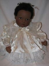 "19"" Lee Middleton Black Baby Doll By Reva In Original Tagged Outfit & Shoes"