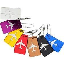 Plane Travel Luggage Tags Baggage Backpack Strap Name Address ID Suitcase Label
