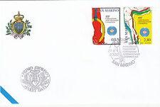 BUSTA UFFICIALE FDC SAN MARINO 2006 FED.INT. GINNASTICA ANNULLO PRIMO GIORNO