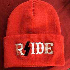 HELLS ANGELS RSIDE RED BEANIE