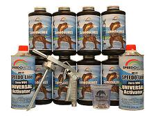 T-Rex Black Bed Liner, 2K Urethane, SMR-1000-K8 Truck Bedliner w/Free Spray Gun