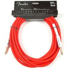 Fender YMG20 Yngwie Malmsteen Signature Guitar Bass Instrument Cable 20' Red