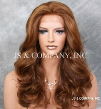 Auburn Mix HEAT SAFE Lace Front wig Big Open Curls Wavy layered NOM 27-30-33