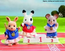 Sylvanian Families - Sylvanian Games Winners Podium Set inc 3 olympic figures