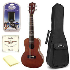 Lanikai LU-21C Concert Ukulele Bundle w/Bag, Tuner, Strings & Polishing Cloth
