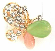 Ladies/Girls Crystals Butterfly Crystal Rhinestone Brooch new