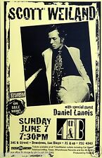 SCOTT WEILAND / DANIEL LANOIS 1998 SAN DIEGO CONCERT POSTER -Stone Temple Pilots