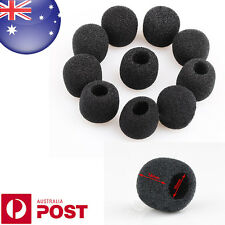 2 x Black Small Foam Covers Windshield for Lavalier Headset Lapel Mic - D127