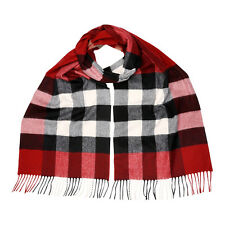 Burberry Giant Exploded Check Cashmere Scarf - Parade Red Check 3953995