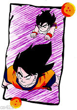 """7"""" DRAGONBALL Z DBZ ANIME  WALL STICKER GLOSSY BORDER CHARACTER CUT OUT"""