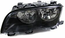 Black Left side headlight H7 front light for BMW E46 Limousine Touring 98-01