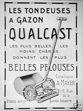 PUBLICITÉ 1927 LA TONDEUSE A GAZON QUALCAST  - ADVERTISING