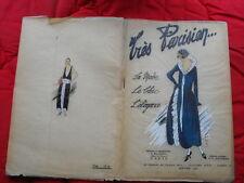 Fashion French Art Déco. TRÈS PARISIEN La mode, le chic, l'élégance n°1 de 1922