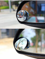2PCS Car Rear View Mirror Adjustable Rotating Wide Angle Blind Spot Mirror Round