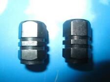 NEW ALLOY CNC BLACK VALVE DUST CAPS X 2 MOTORCYCLE PIT BIKE ATV SCOOTER