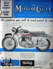 28 July 1960 NORTON 'Dominator' 600cc Motor Cycle ADVERT - Magazine Cover Print