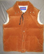 Vintage JANSPORT Down Vest XL Brown Corduroy PUFFY 80s Rad RARE Hiking coat