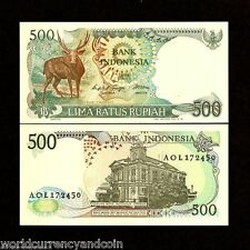 INDONESIA 500 RUPIAH P123 1988 *BUNDLE* TIMOR STAG UNC ANIMAL CURRENCY 100 NOTE