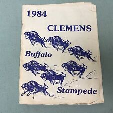 VINTAGE FOOTBALL PROGRAM CLEMENS BUFFALO STAMPEDE 1984 TEXAS UNIVERSAL CITY TX
