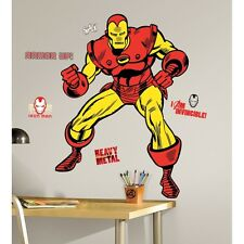 """IRON MAN 47"""" GiAnT Wall Decals CLASSIC MARVEL Room Decor Stickers Comics Avenger"""