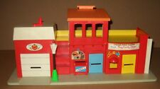 1970s Fisher Price #997 Play Family Village Fire Station Half Little People