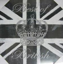 Toile Mural Meilleur Art Britannique Couronne Image Union Jack 48 X 48cm