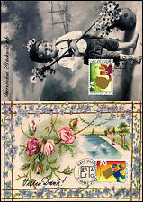 Liechtenstein 2001 Greeting Stamps Maximum Card Set #C38840